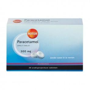 Roter Paracetamol 500mg Smelttbl Bessen