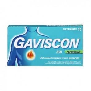 Gaviscon Pepermunt tabletten 16 stuks