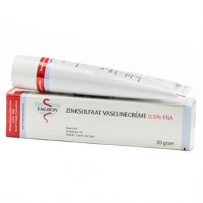 Omschrijving Zinksulfaatvaselinecrème 0,5% FNA
